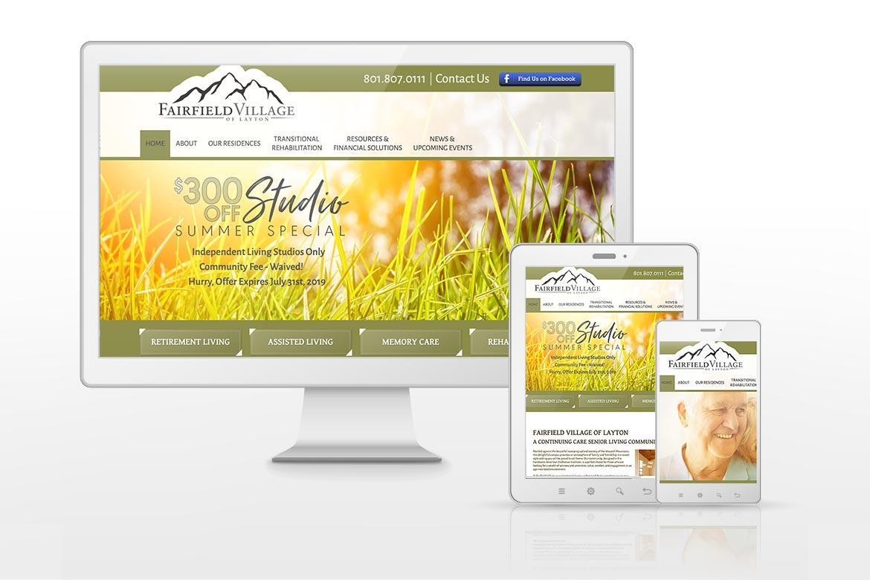 Fairfield Village Retirement Living Website