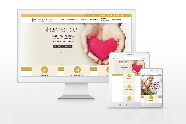 Generations LLC Retirement Living Website